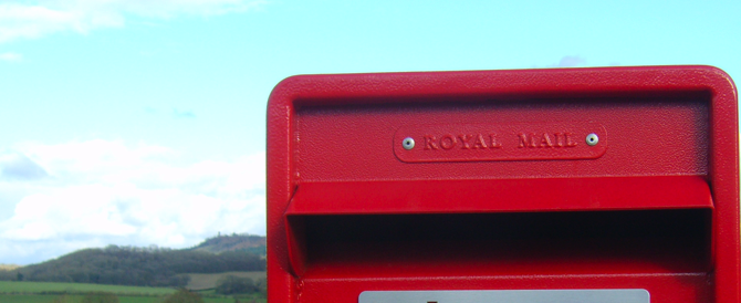 Post Box With Flounder's Folly in the Background