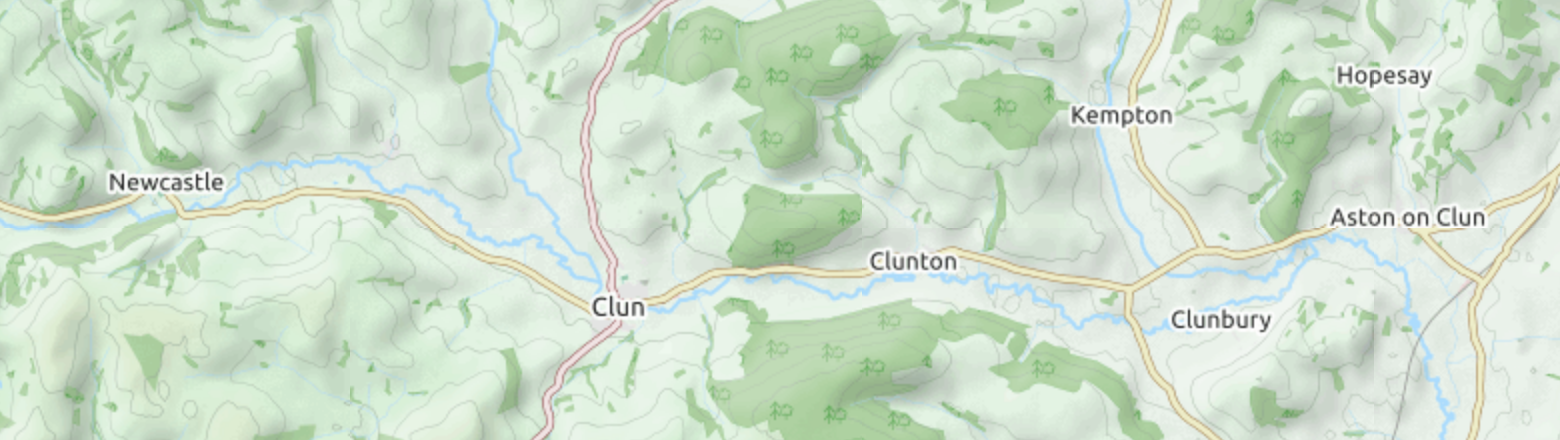 Map of the Clun Valley