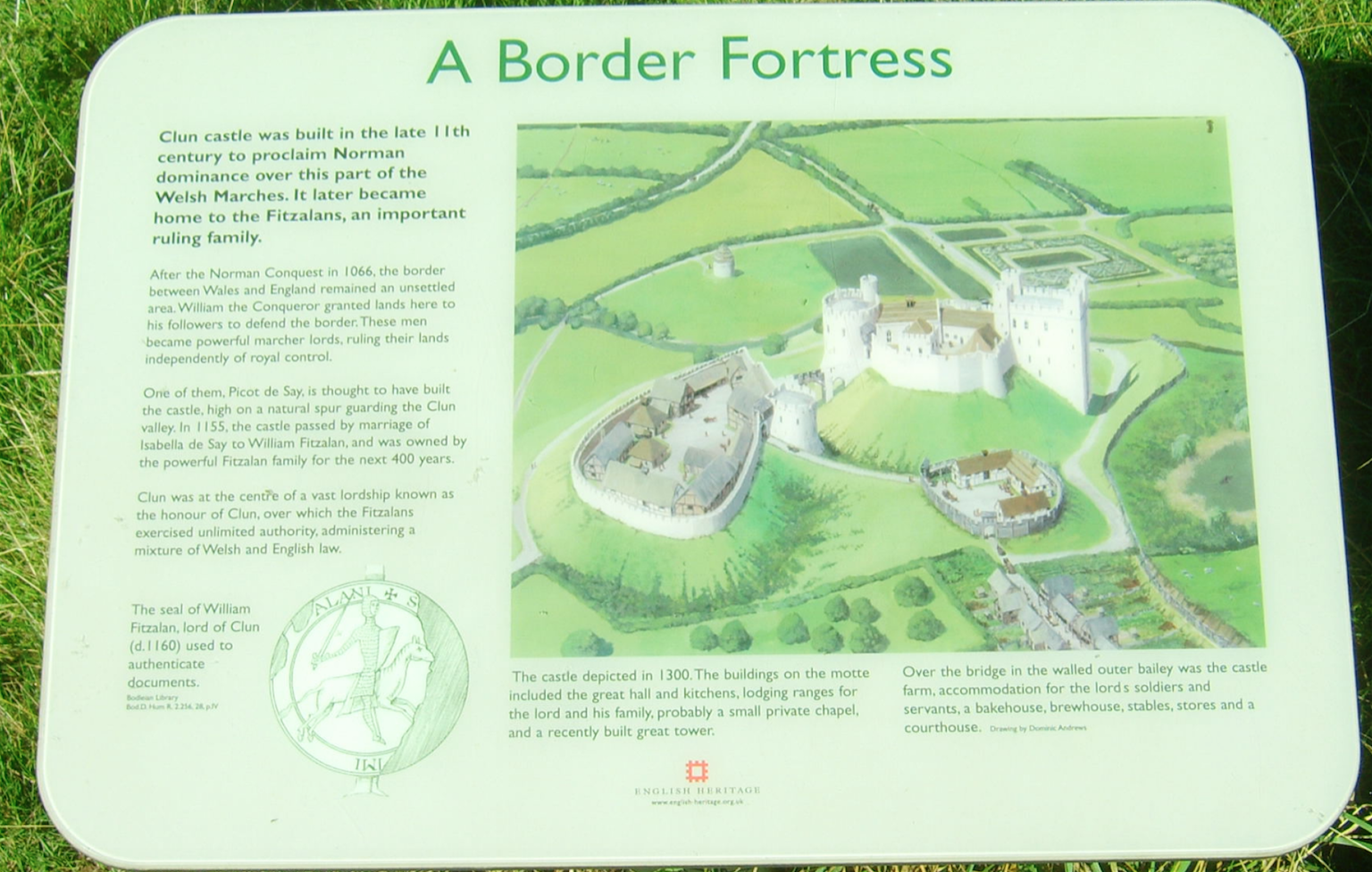 Clun Castle Information - A Border Fortress