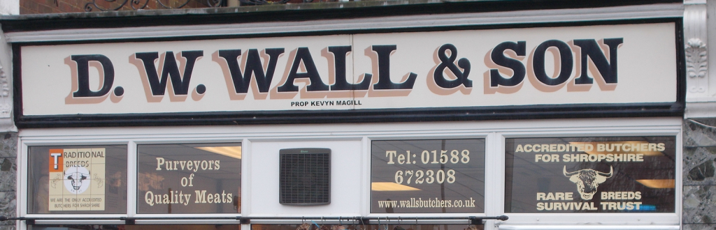 D W Wall & Son - Banner