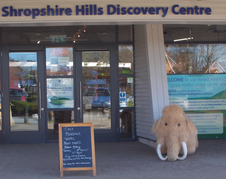 Entrance to the Shropshire Hills Discovery Centre