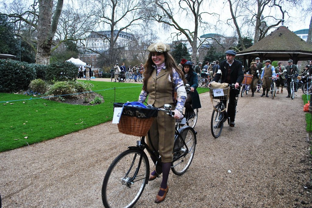 Tweed Run Woman
