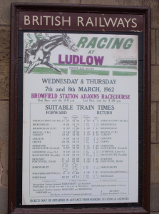 A historic poster of Racing at Ludlow from 1962.