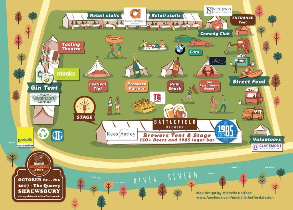 Shropshire Oktoberfest 2017 Map