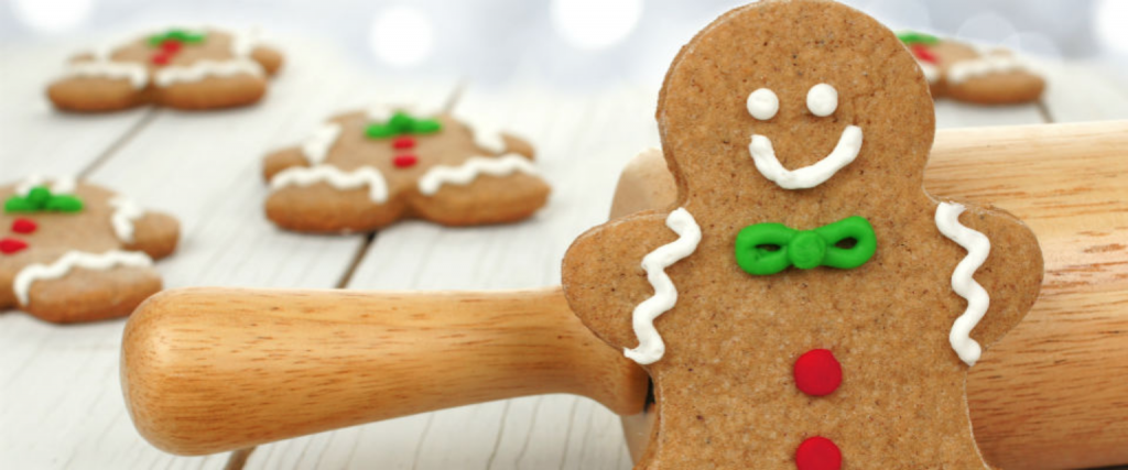 An image of some festive gingerbread.
