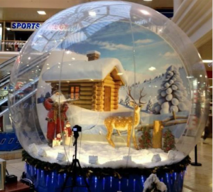 An image of a giant snowglobe