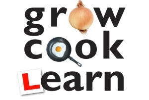 The logo of the registered charity Grow Cook Learn