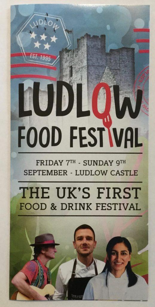 Ludlow Food Festival 2018 Flyer