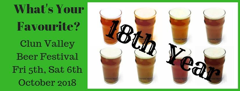 Clun Valley Beer Festival 2018 now in it's 18th year.