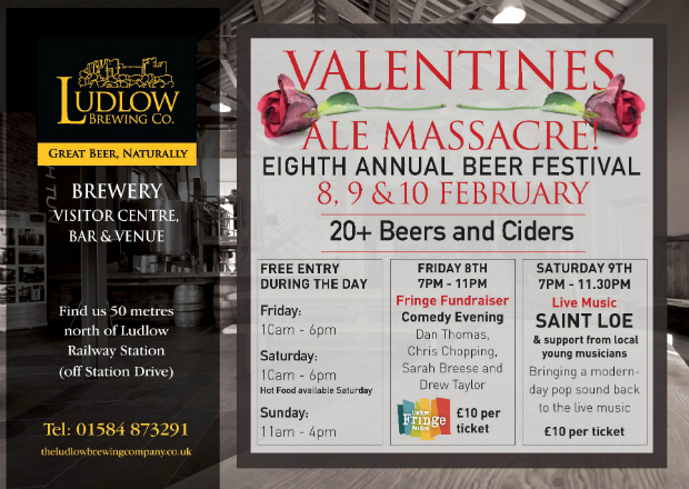 Ludlow Brewing Company Valentines Ale Massacre 2019 Poster.