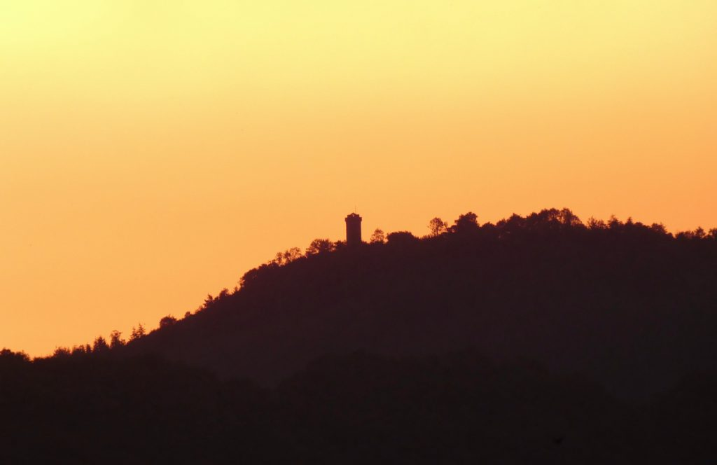 A photograph of Flounders' Folly at sunrise on 26th June 2020